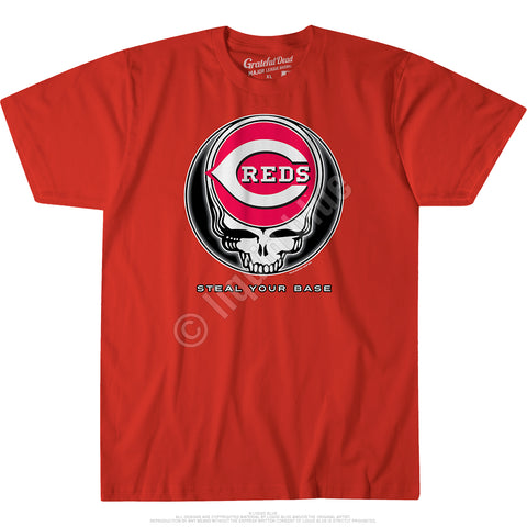 Grateful Dead Reds Gd Steal Your Base Standard Short-Sleeve T-Shirt
