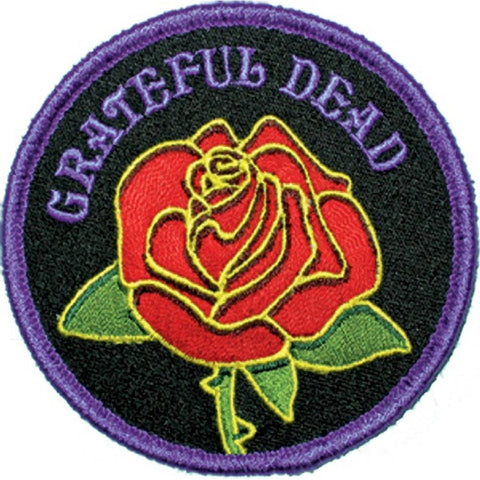 Grateful Dead Rose WithLogo Patch