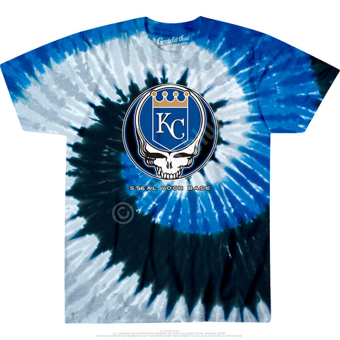 Grateful Dead Royals Gd Steal Your Base Spiral Standard Short-Sleeve T-Shirt