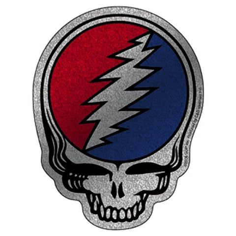 Grateful Dead Steal Your Face Glitter Outline Sticker