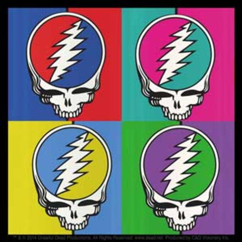 Grateful Dead Steal Your Face Square Sticker