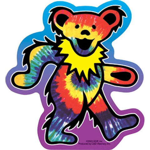 The Grateful Dead Tye Dye Bear Sticker