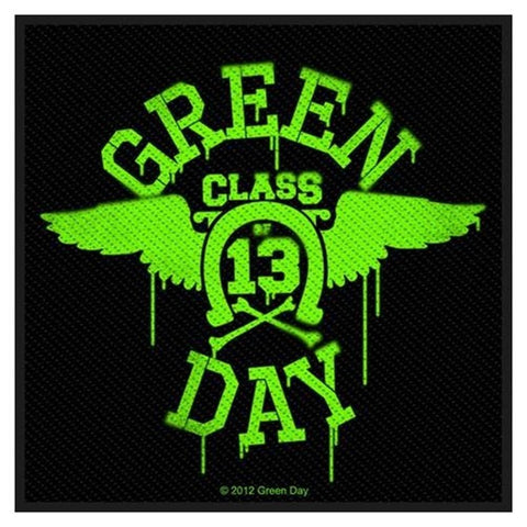 Green Day Neon Wings Patch