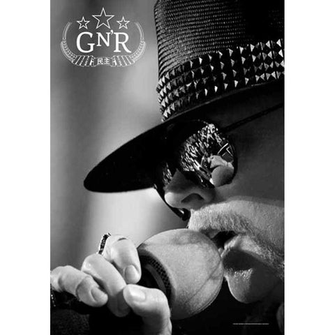 Guns N Roses Axel Rose Microphone Fabric Poster