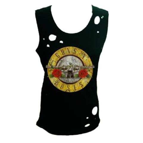 Guns N Roses Circle Guns Destroyed Women's Tank