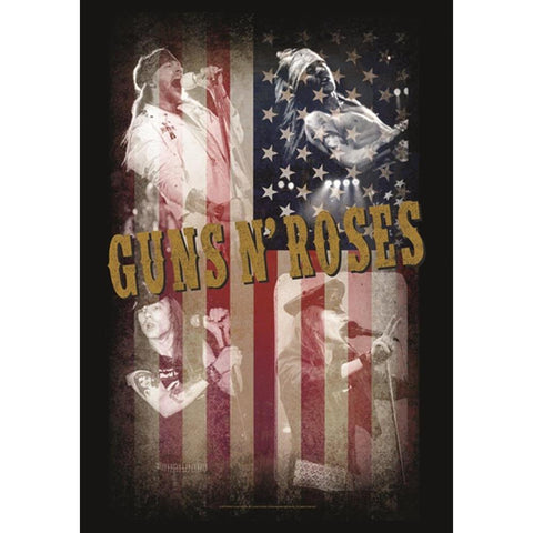 Guns N Roses Collage Fabric Poster