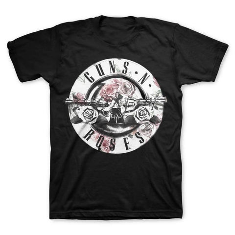 Guns N Roses Floral Fill Bullet Men's T-Shirt