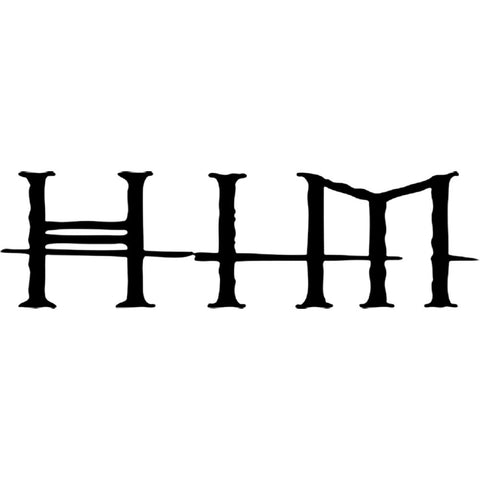 HIM Logo Crossed Lines Rub-On Sticker - Black