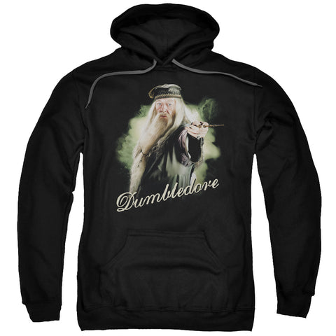 Harry Potter Dumbledore Wand Men's Pull-Over 75 25 Poly Hoodie