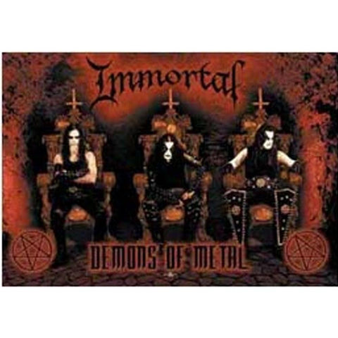 Immortal Demons Of Metal Fabric Poster