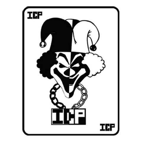 Insane Clown Posse Black Jester Card Rub-On Sticker