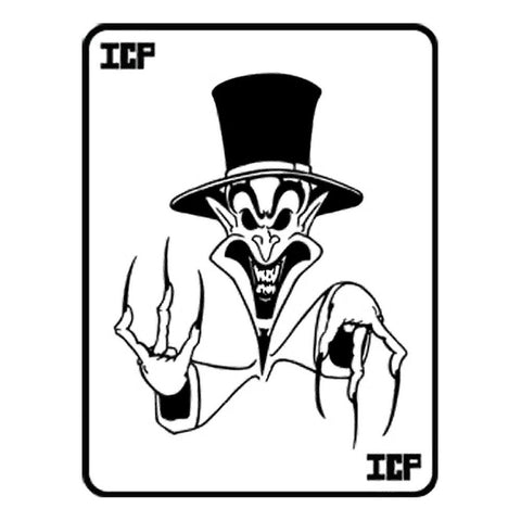 Insane Clown Posse Black Ringmaster Card Rub-On Sticker