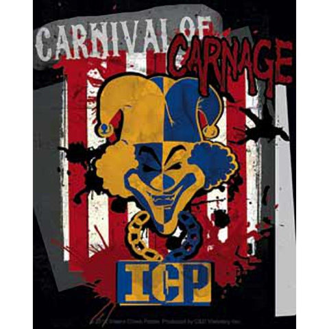 Insane Clown Posse Carnival of Carnage Stripes Sticker