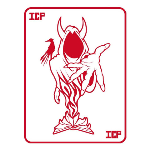 Insane Clown Posse Red Ghost Card Rub-On Sticker