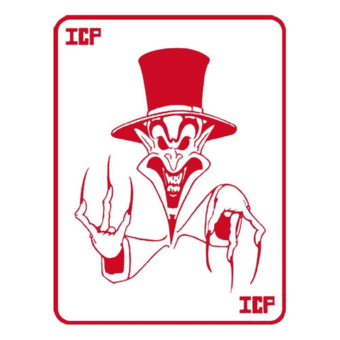 Insane Clown Posse Red Ringmaster Card Rub-On Sticker