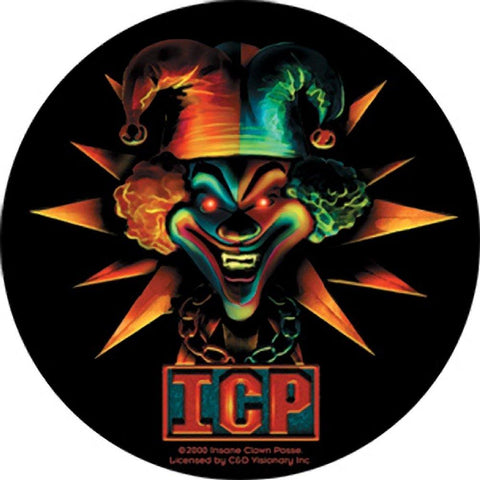 Insane Clown Posse Round Blue and Red Star Jester Sticker
