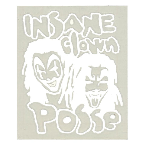 Insane Clown Posse Band Logo Rub-On Sticker WHITE