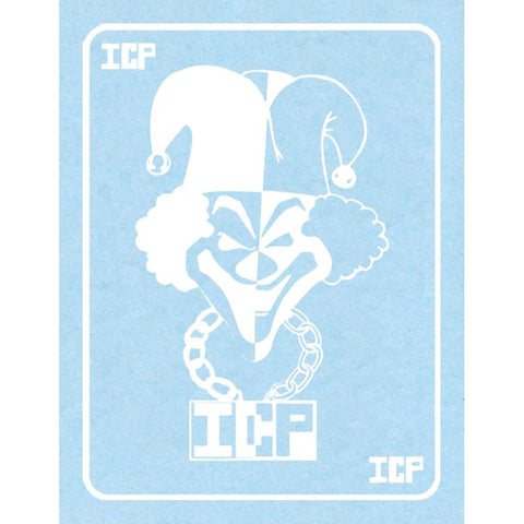 Insane Clown Posse White Jester Card Rub-On Sticker