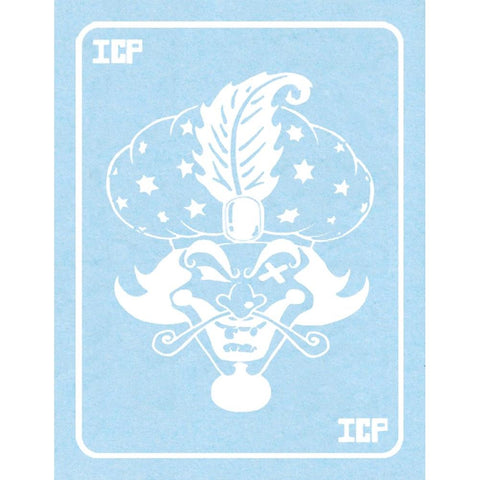 Insane Clown Posse White Milenko Card Rub-On Sticker