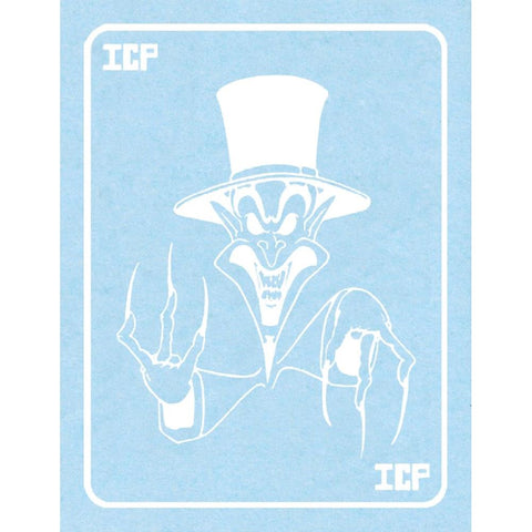 Insane Clown Posse White Ringmaster Card Rub-On Sticker