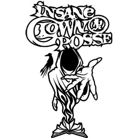 Insane Clown Posse Wraith Rub On Sticker - Black