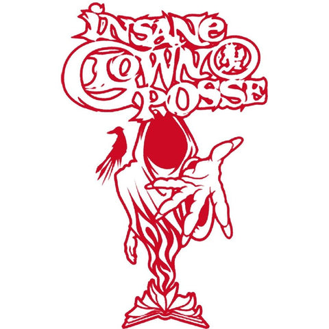 Insane Clown Posse Wraith Rub On Sticker - Red