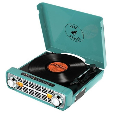 Ion It100Tl Bronco Lp 4 In 1 Turntable Radio Teal