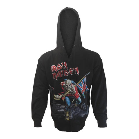Iron Maiden Scuffed Trooper Men's Zip Hoodie
