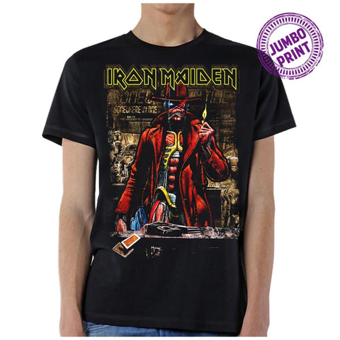 Iron Maiden Stranger Sepia Men's Black T-Shirt