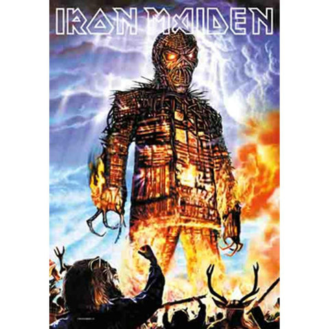 Iron Maiden Wicked Man Fabric Poster