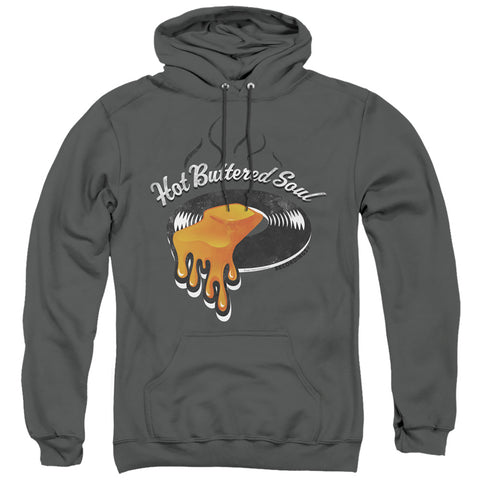 Isaac Hayes Hot Butter Soul Logo Men's Pull-Over 75 25 Poly Hoodie