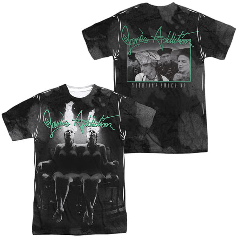 Jane's Addiction Special Order Nothings Shocking (Front/Back Print) Men's Regular Fit 100% Polyester Short-Sleeve T-Shirt