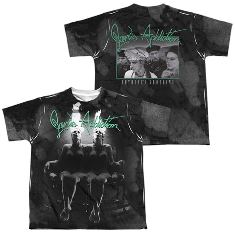 Jane's Addiction Special Order Nothings Shocking (Front/Back Print) Youth Regular Fit 100% Polyester Short-Sleeve T-Shirt