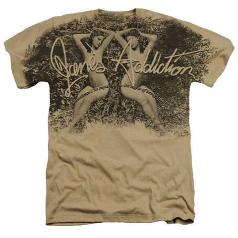 Jane's Addiction Special Order Tie Myself Up Men's 30/1 60% Cotton 40% Poly Short-Sleeve Heather T-Shirt