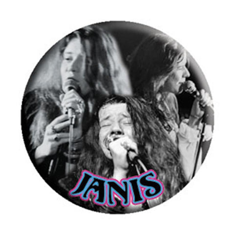 Janis Joplin Collage Button