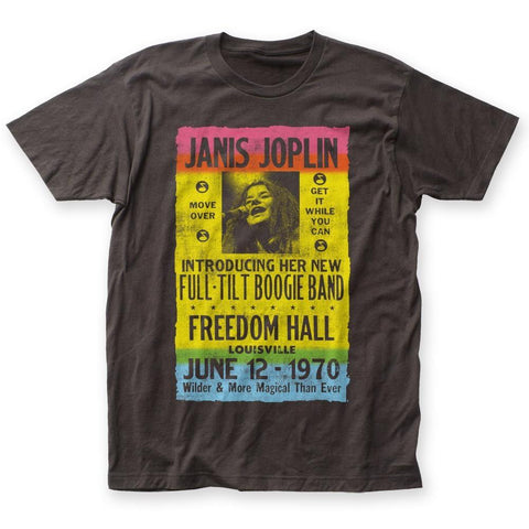 Janis Joplin Freedom Hall Poster Men's Fitted T-Shirt