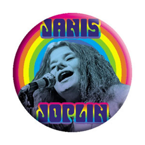 Janis Joplin Heart Button
