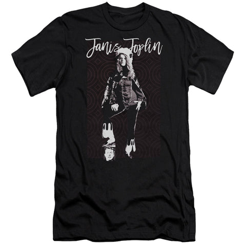 Janis Joplin Special Order Minimal J Men's Premium Ultra-Soft 30/1 100% Cotton Slim Fit T-Shirt - Eco-Friendly - Made In The USA