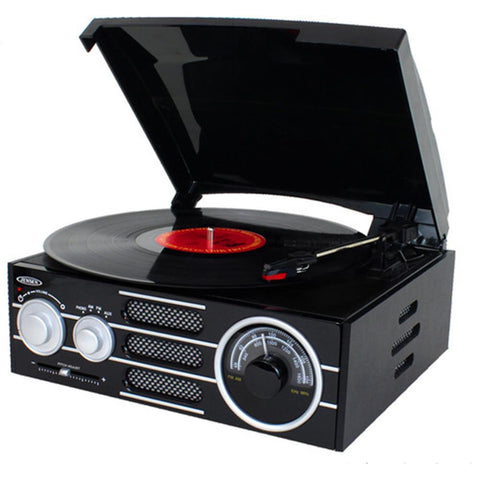 Jensen 3-Speed Stereo Turntable With AM/FM Stereo