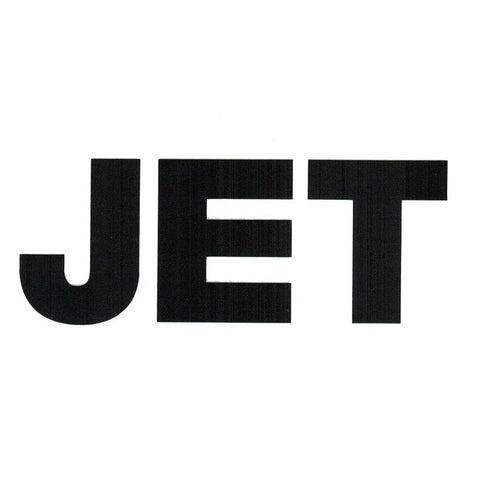 Jet Band Logo Rub-On Sticker BLACK
