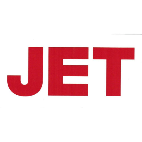 Jet Band Logo Rub-On Sticker RED