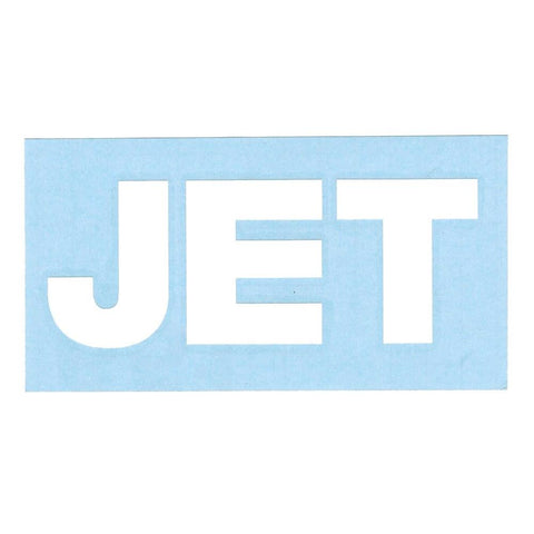 Jet Band Logo Rub-On Sticker WHITE