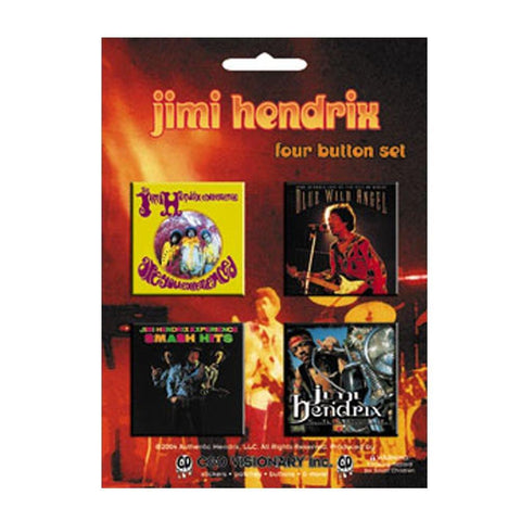 Jimi Hendrix Blue Wild Angel Assorted Square Button Set