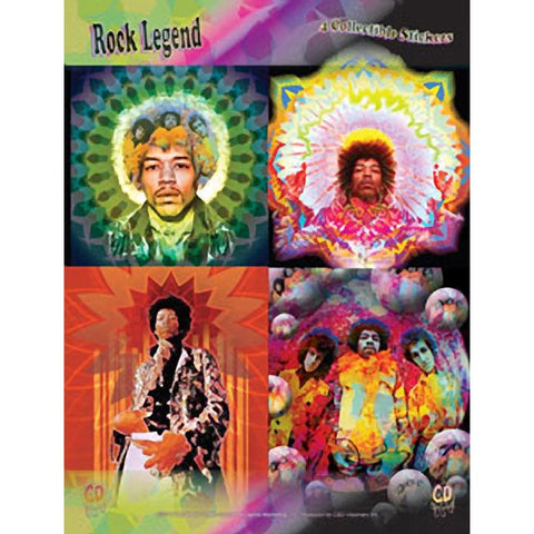 Jimi Hendrix Assorted Sticker Set