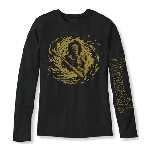 Jimi Hendrix Cosmic Swirl Men's Long Sleeved T-Shirt
