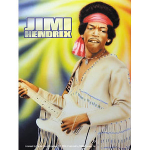 Jimi Hendrix Kennedy Woodstock Sticker