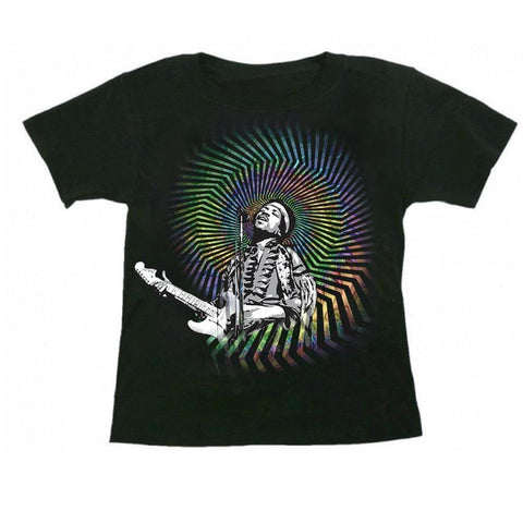 Jimi Hendrix Psychedelic Spiral Youth T-Shirt