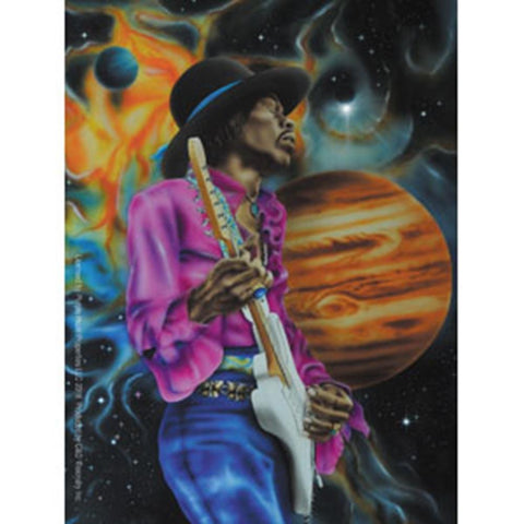 Jimi Hendrix Space Universe Sticker