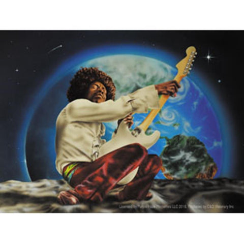 Jimi Hendrix Earth Space Sticker