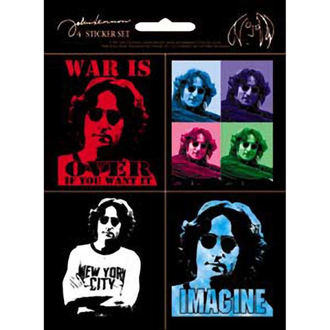 Beatles John Lennon Assorted Sticker Set
